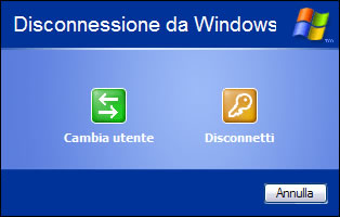 Disconnessione da Windows